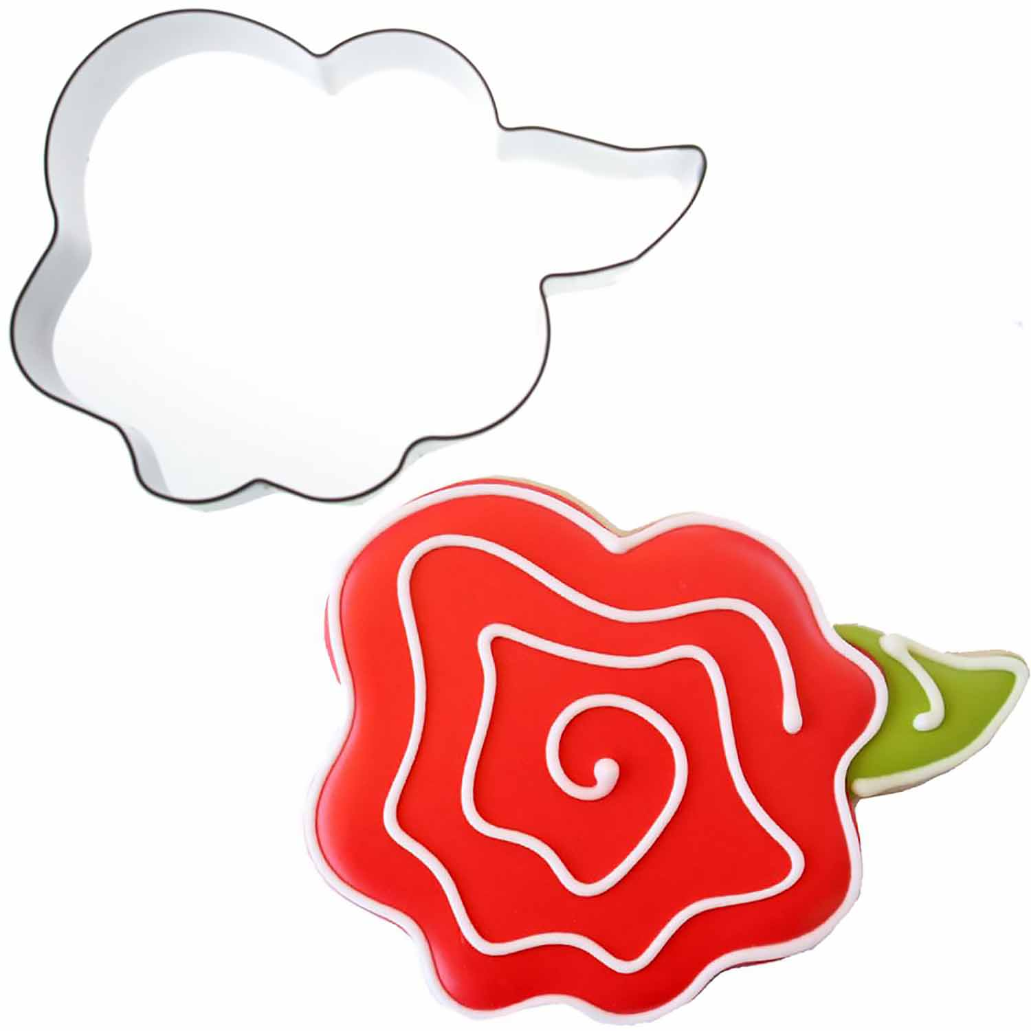 Whimsical Rose Cookie Cutter by Sweet Sugarbelle