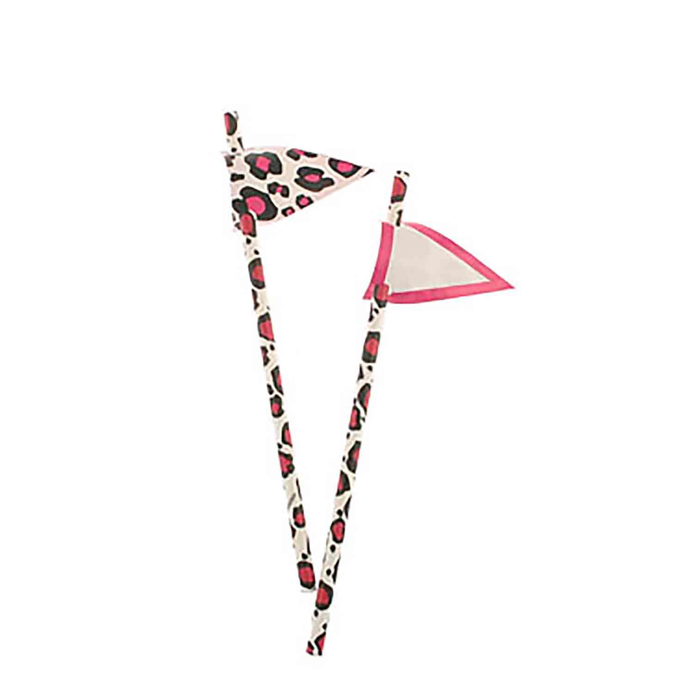 Pink Leopard Paper Straws