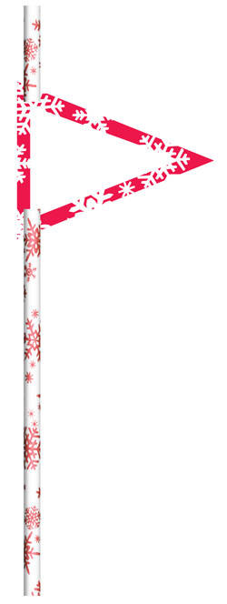 Red Snowflakes Paper Straws