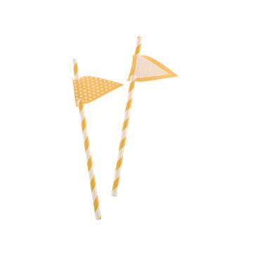 Yellow Stripes Paper Straws