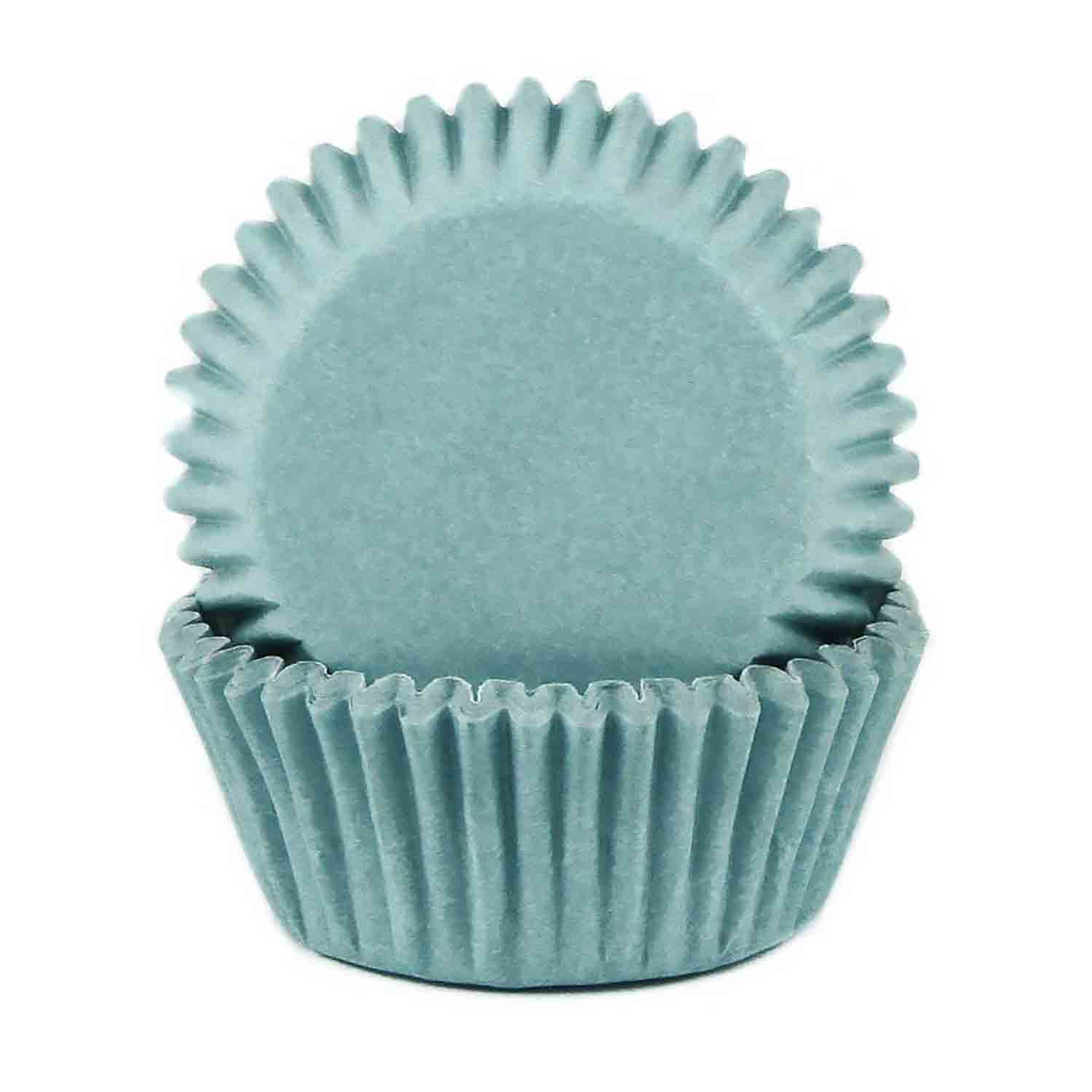 Light Blue Mini Baking Cups