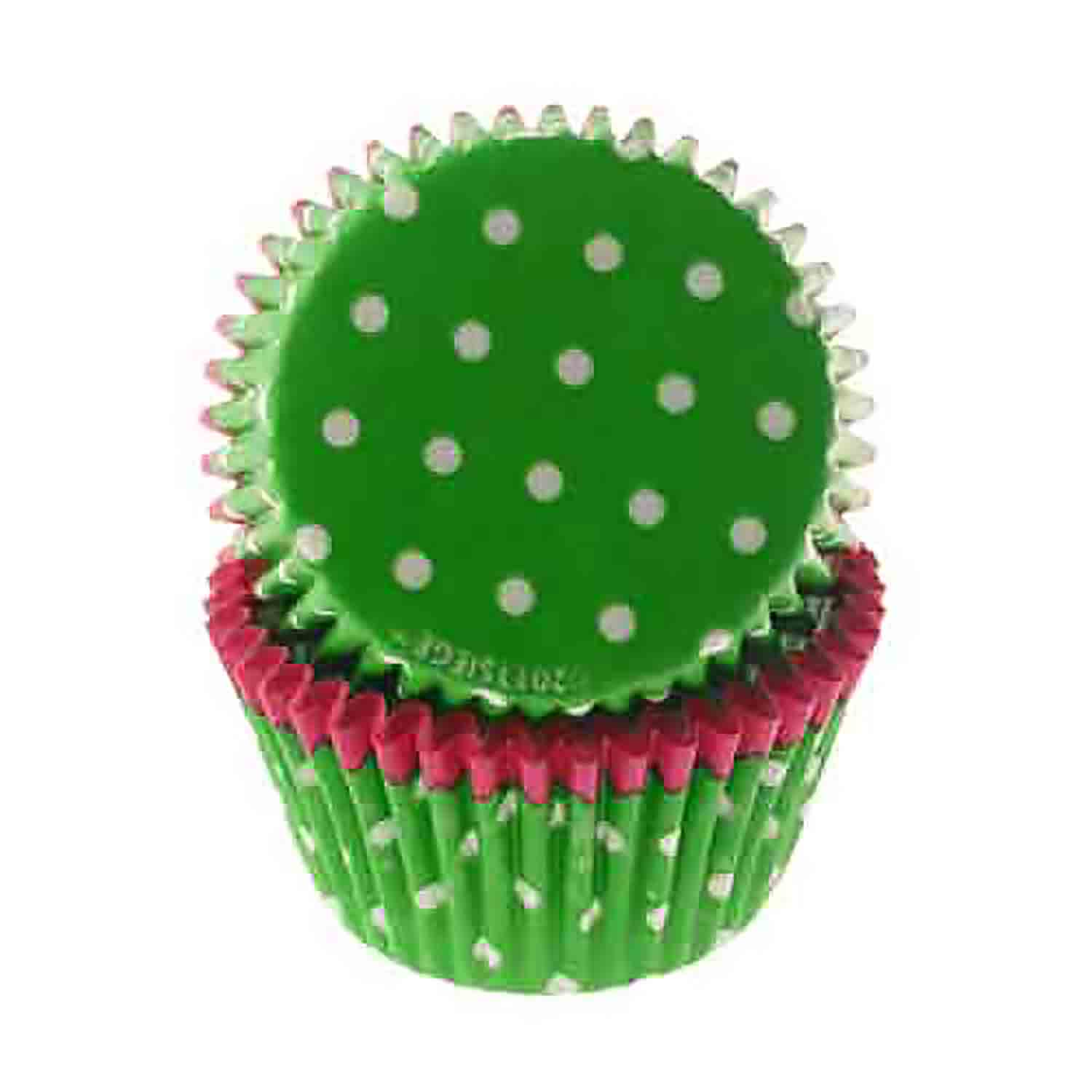 Pink Trim, Lime Green w/ White Dots Standard Baking Cups