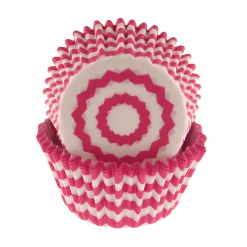 Hot Pink Chevron Standard Baking Cups