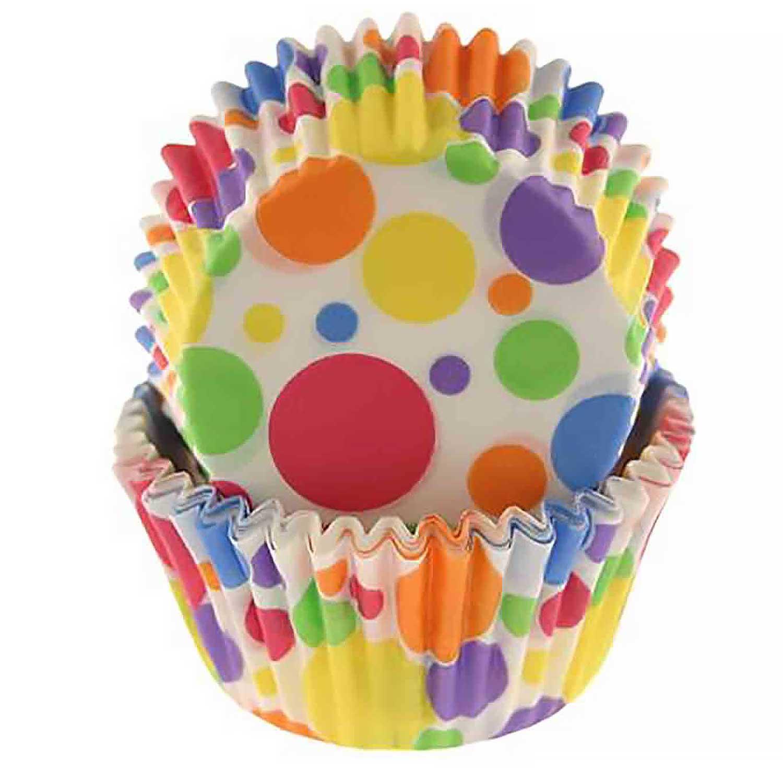 Rainbow Dots Standard Baking Cups