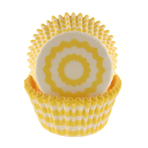 Sunshine Chevron Standard Baking Cups