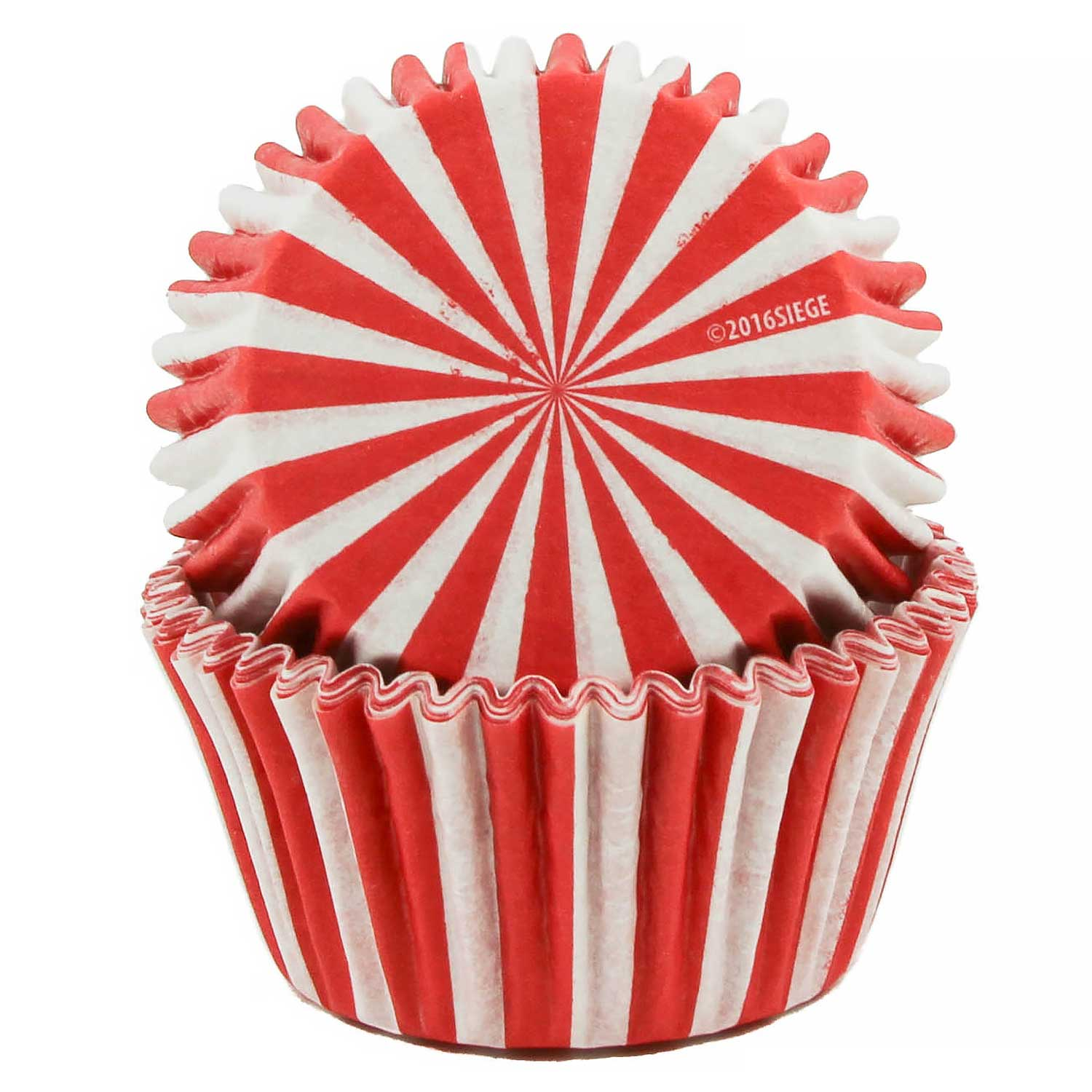 Red Stripes Standard Baking Cups