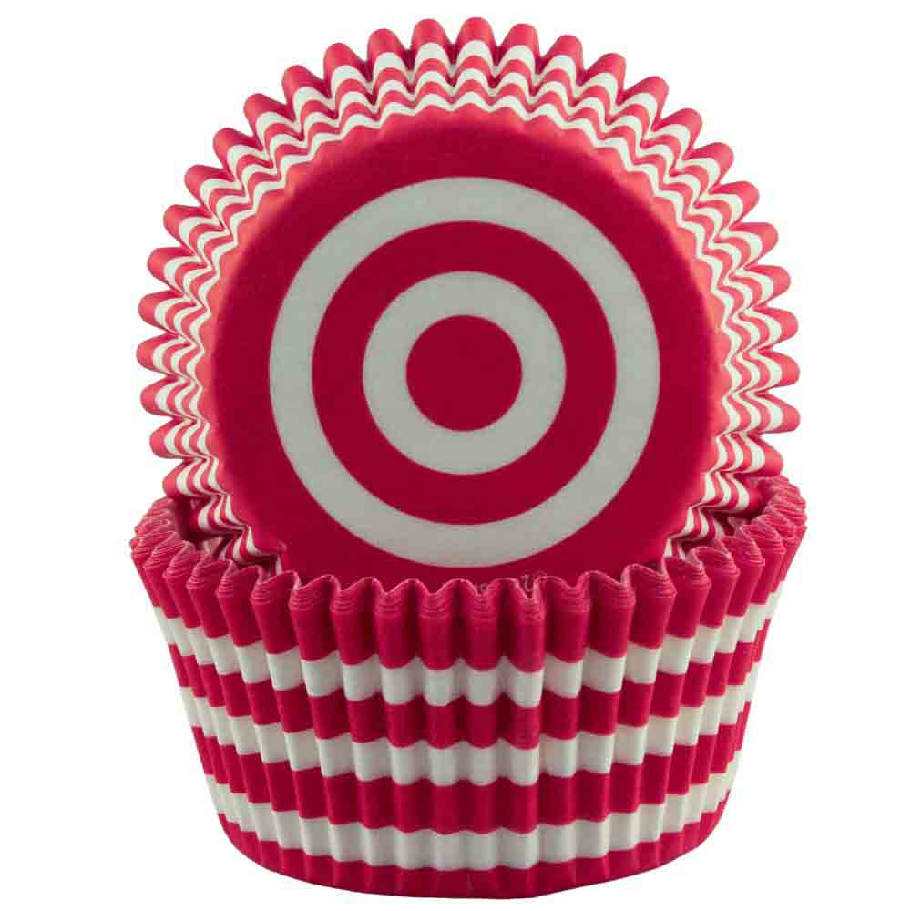 Red and White Stripe Standard Baking Cup