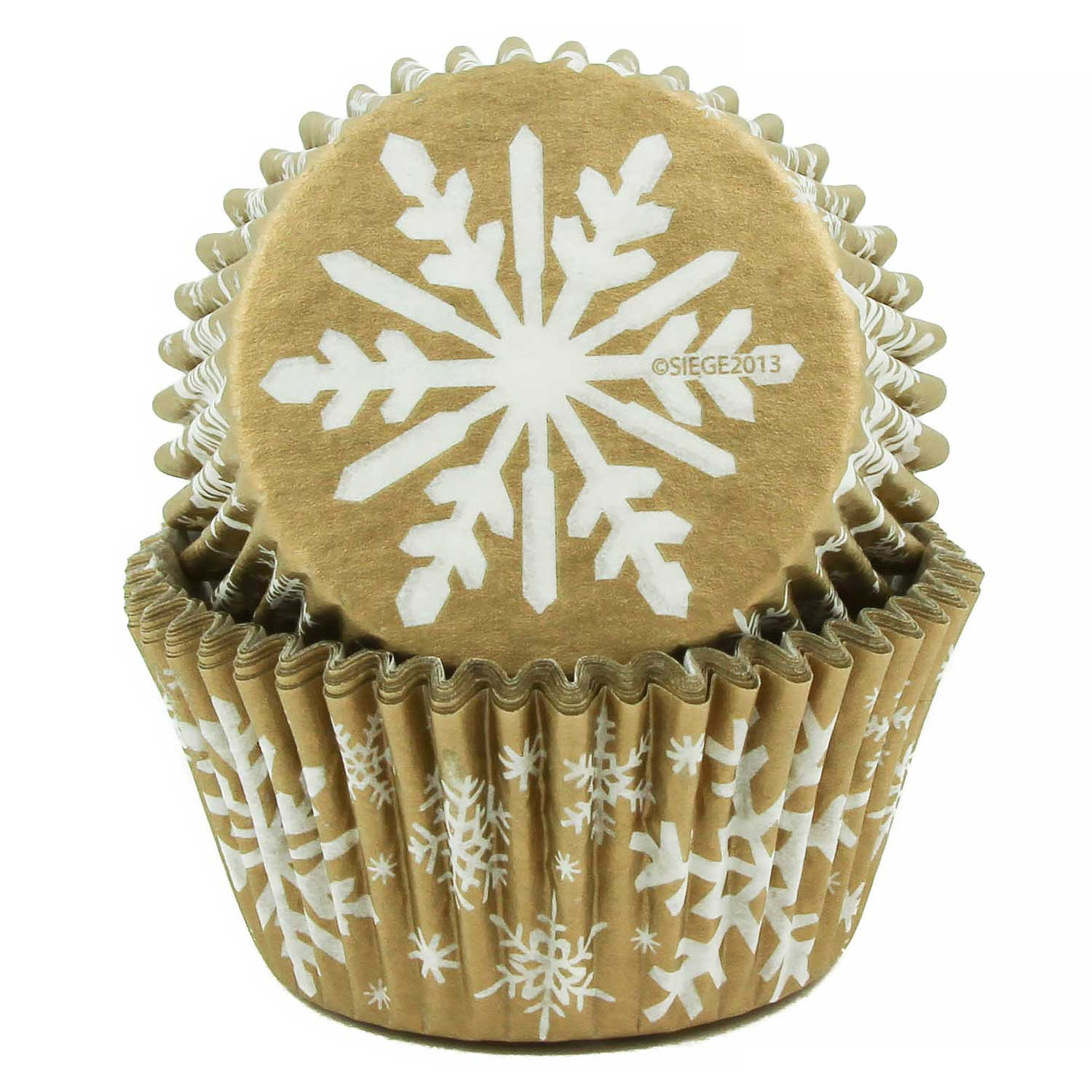 Gold Snowflakes Standard Baking Cups