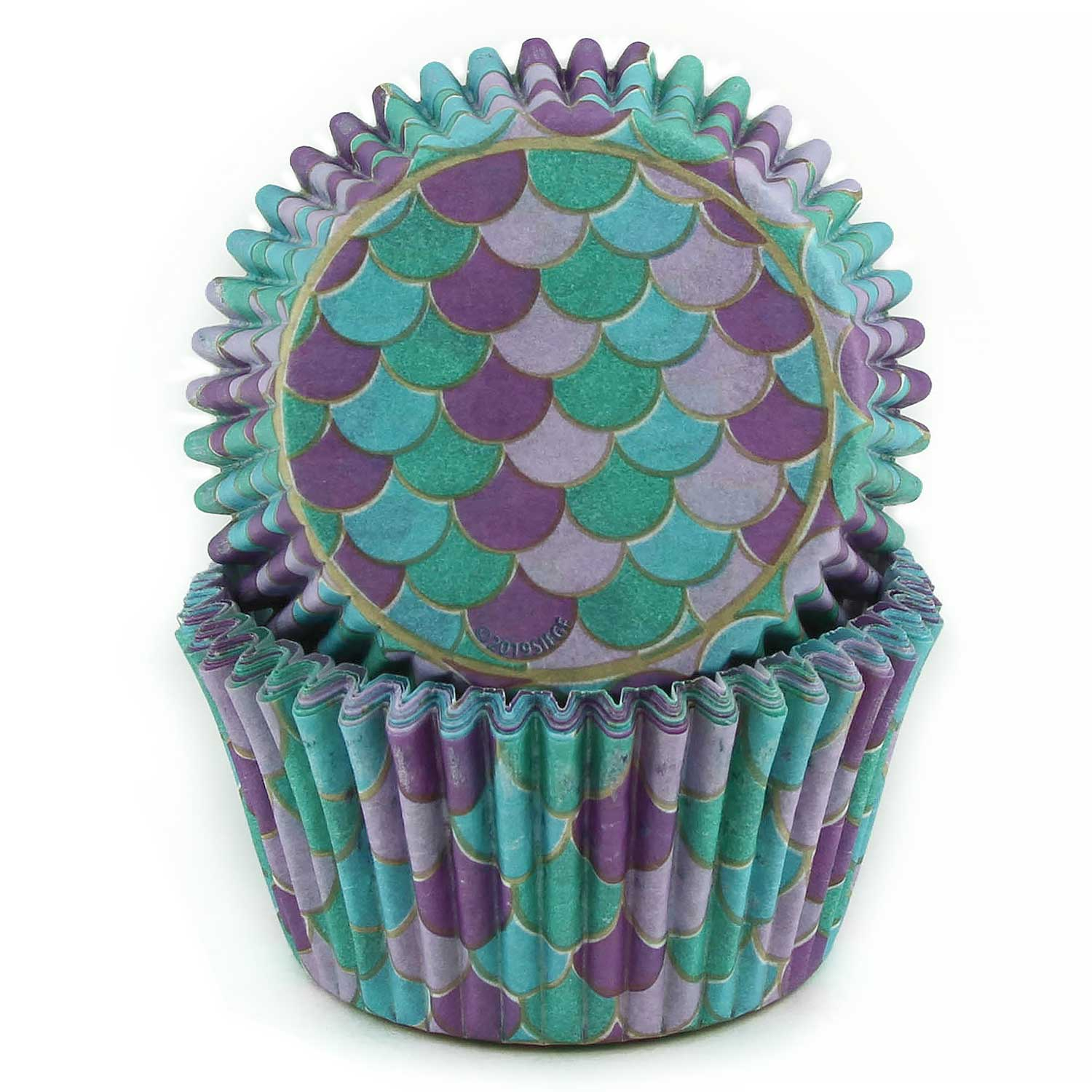 Mermaid Scales Standard Baking Cups