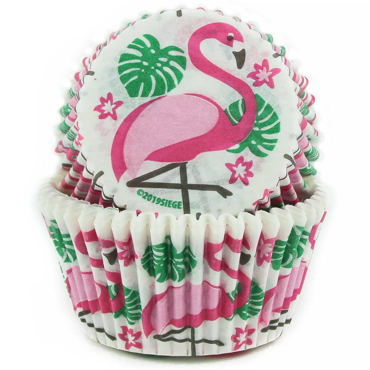 Pink Flamingos Standard Baking Cups