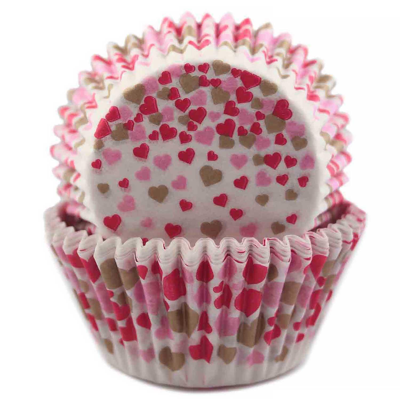 Falling Hearts Standard Baking Cups