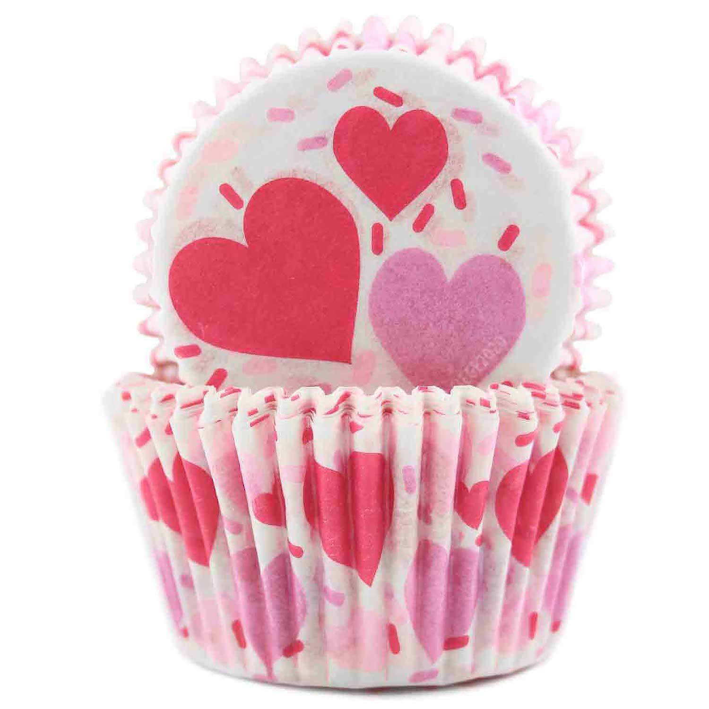 Hearts & Sprinkles Standard Baking Cups