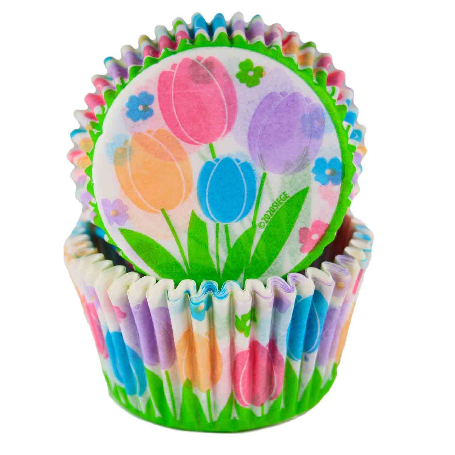 Spring Tulips Standard Baking Cup