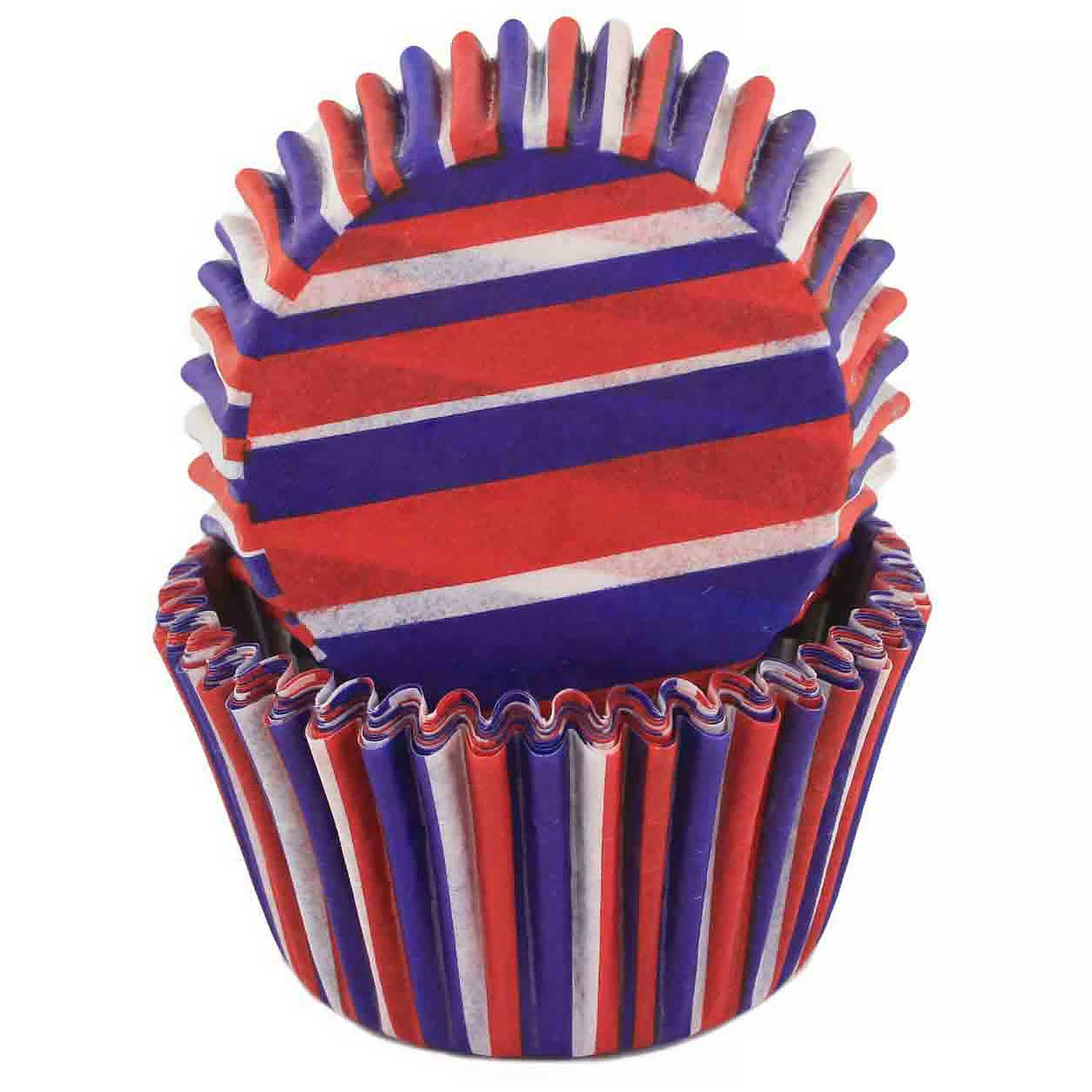 Red, White, & Blue Striped Standard Baking Cup