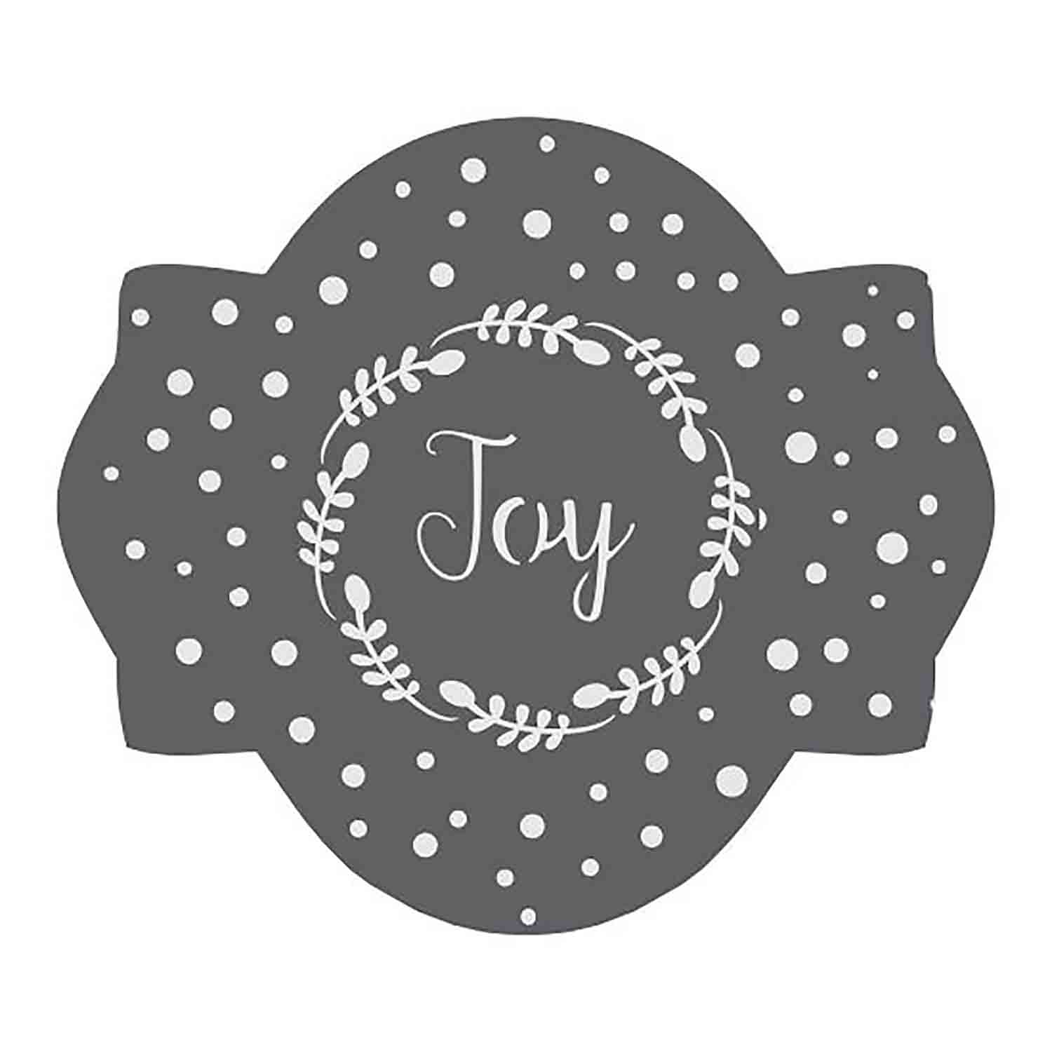 Joy Cookie Stencil Set by Julia M Usher