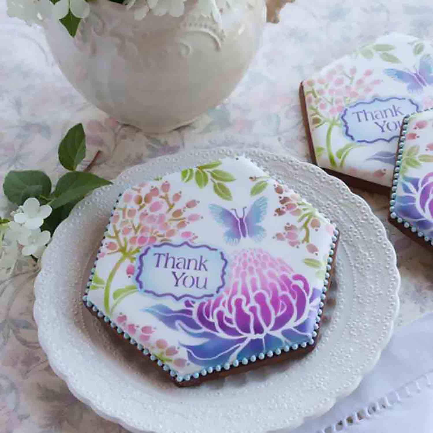 Thank You Cookie Stencil Set by Julia M Usher