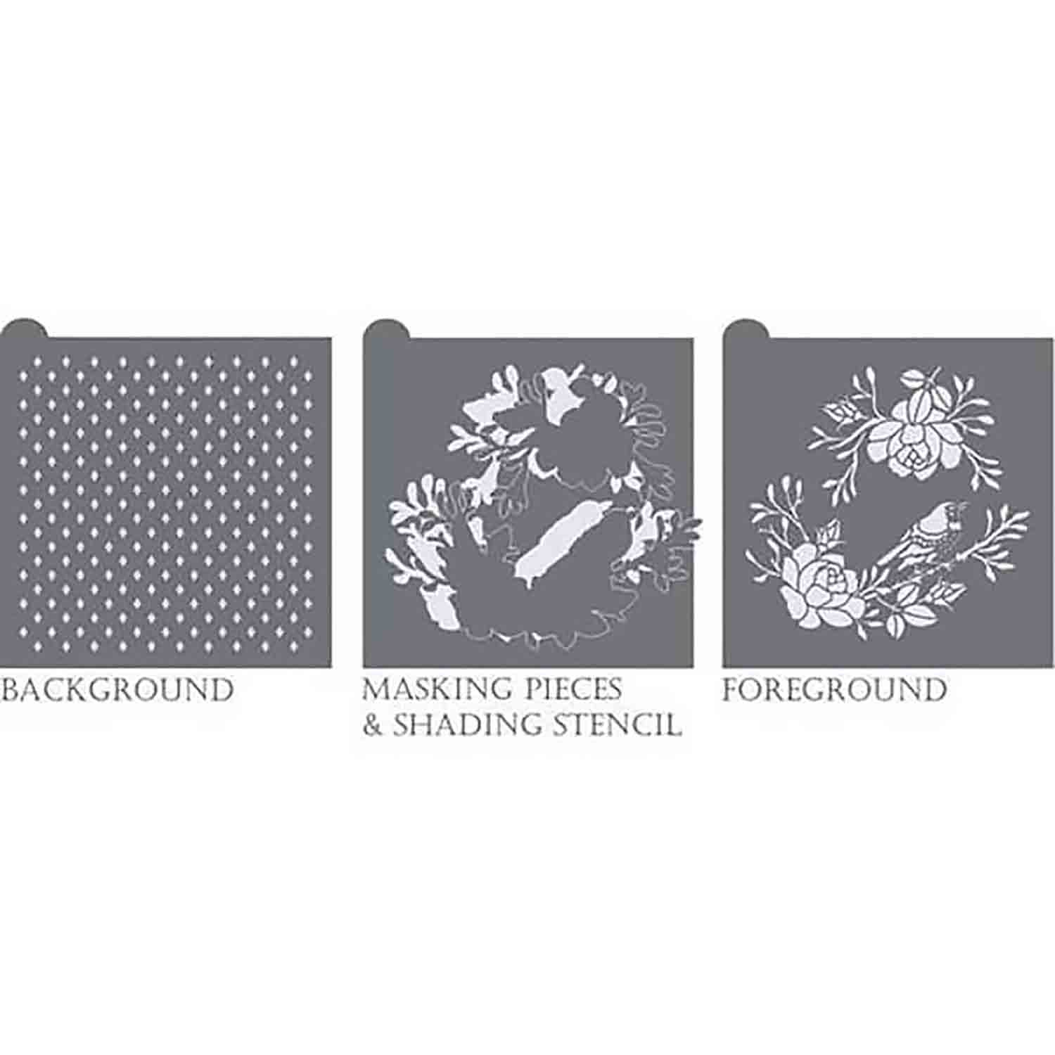 In Bloom Background Stencil Set