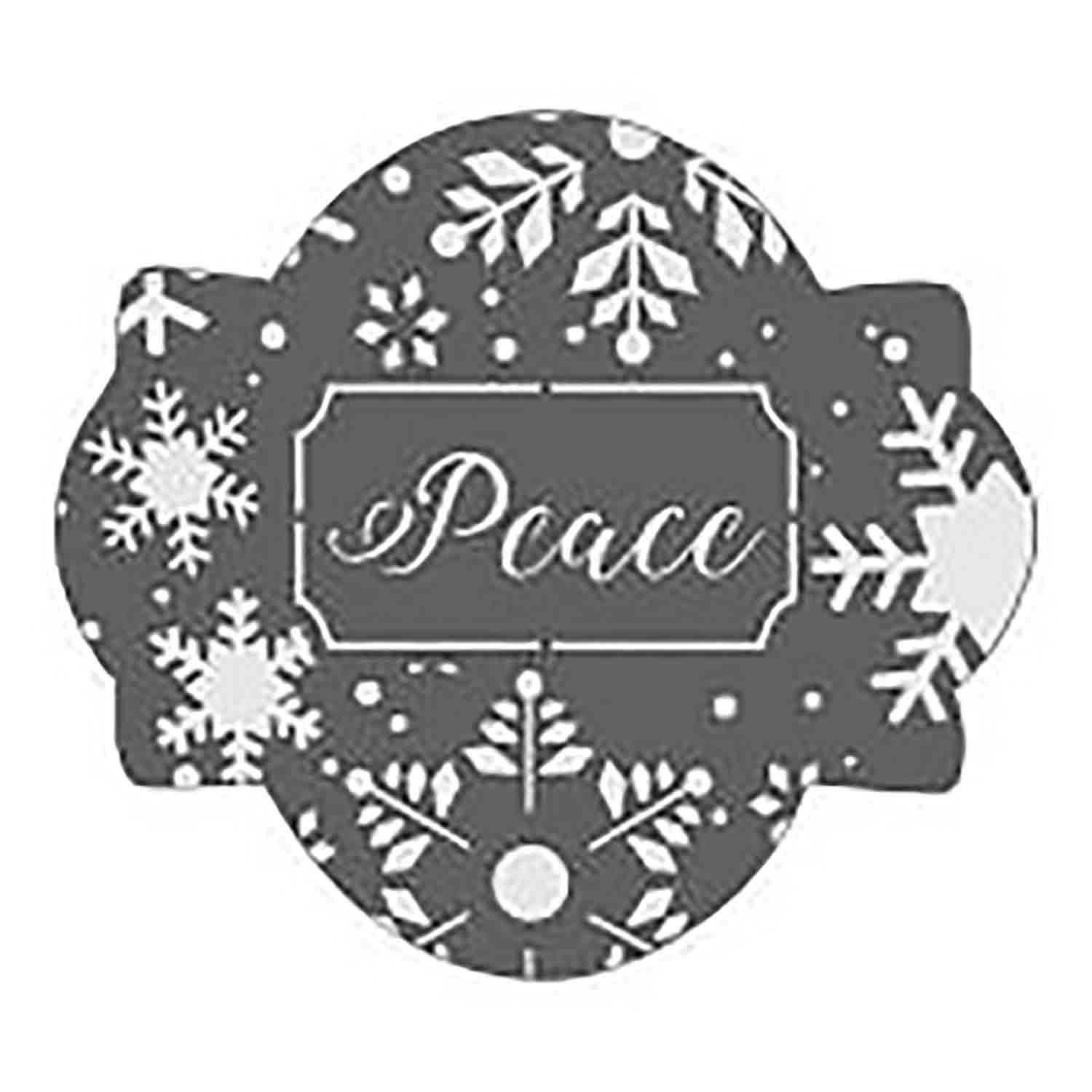Peace Cookie Stencil Set