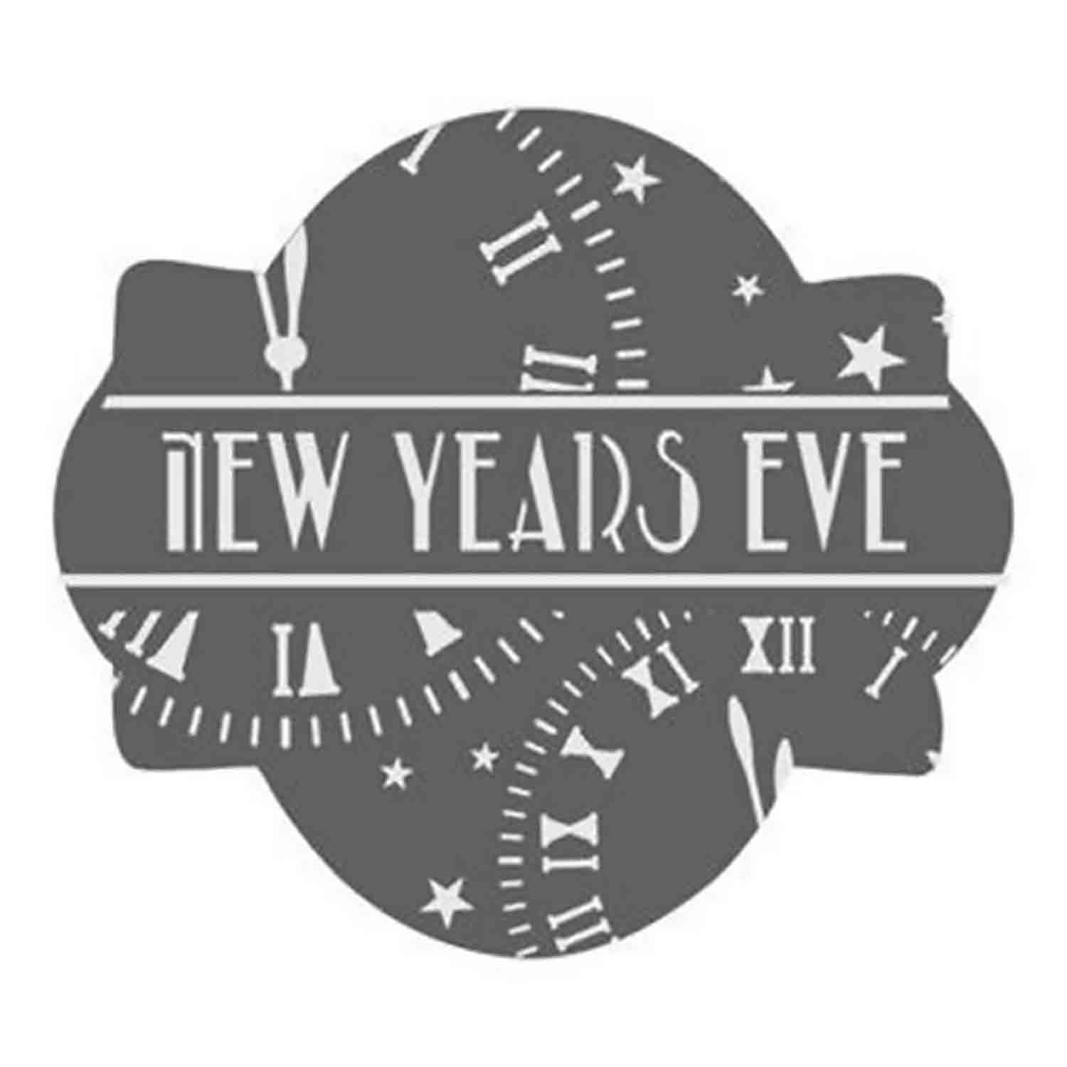 New Years Clock Cookie Stencil Set