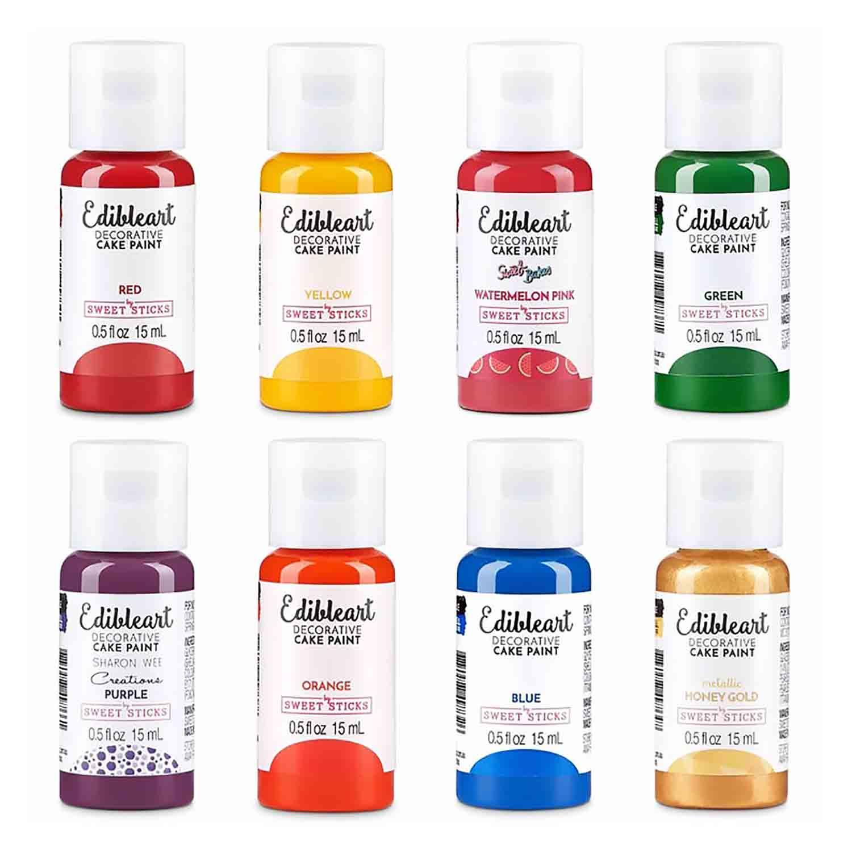 Rainbow Pack Edible Art Decorative Paint