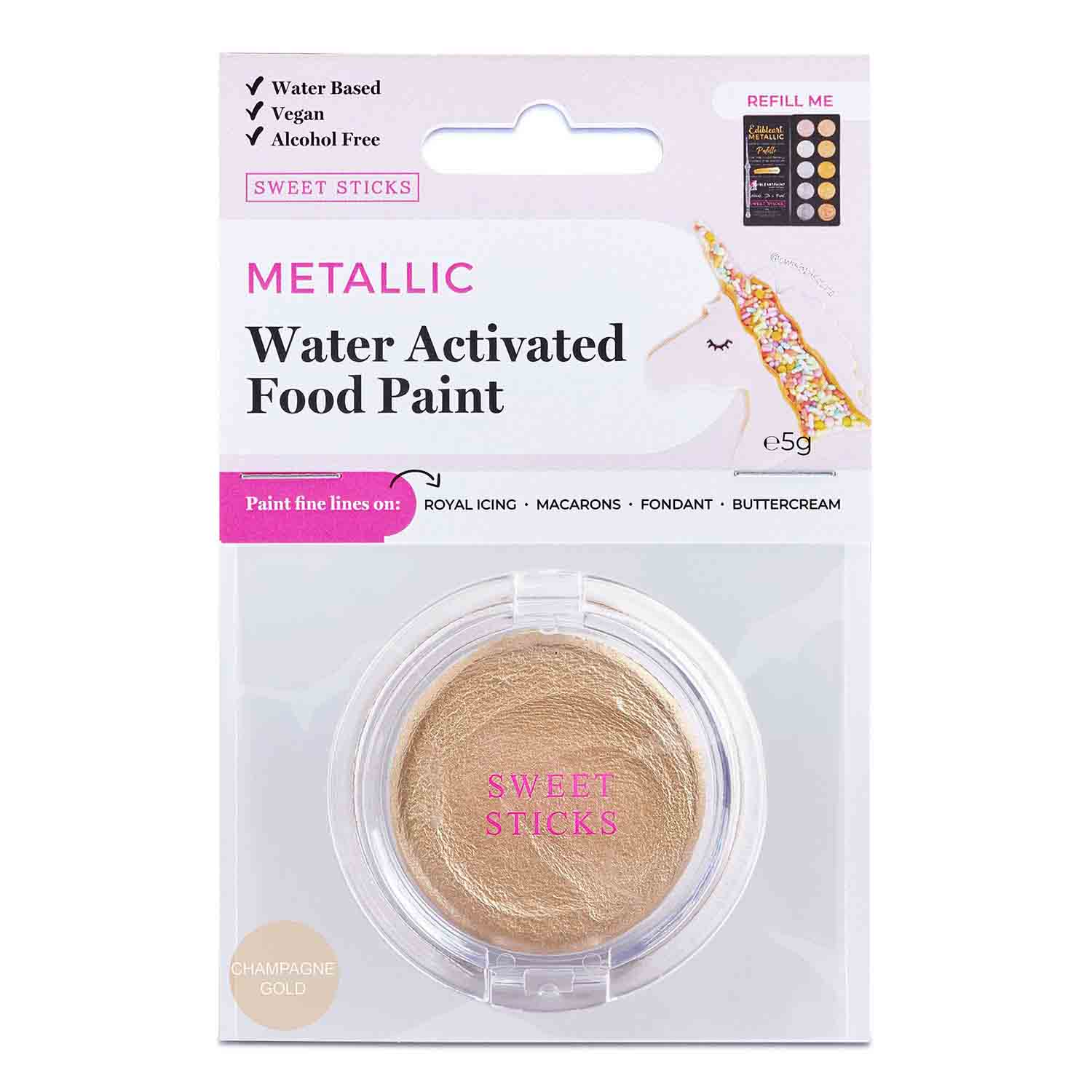 Champagne Gold Water Activated Food Paint