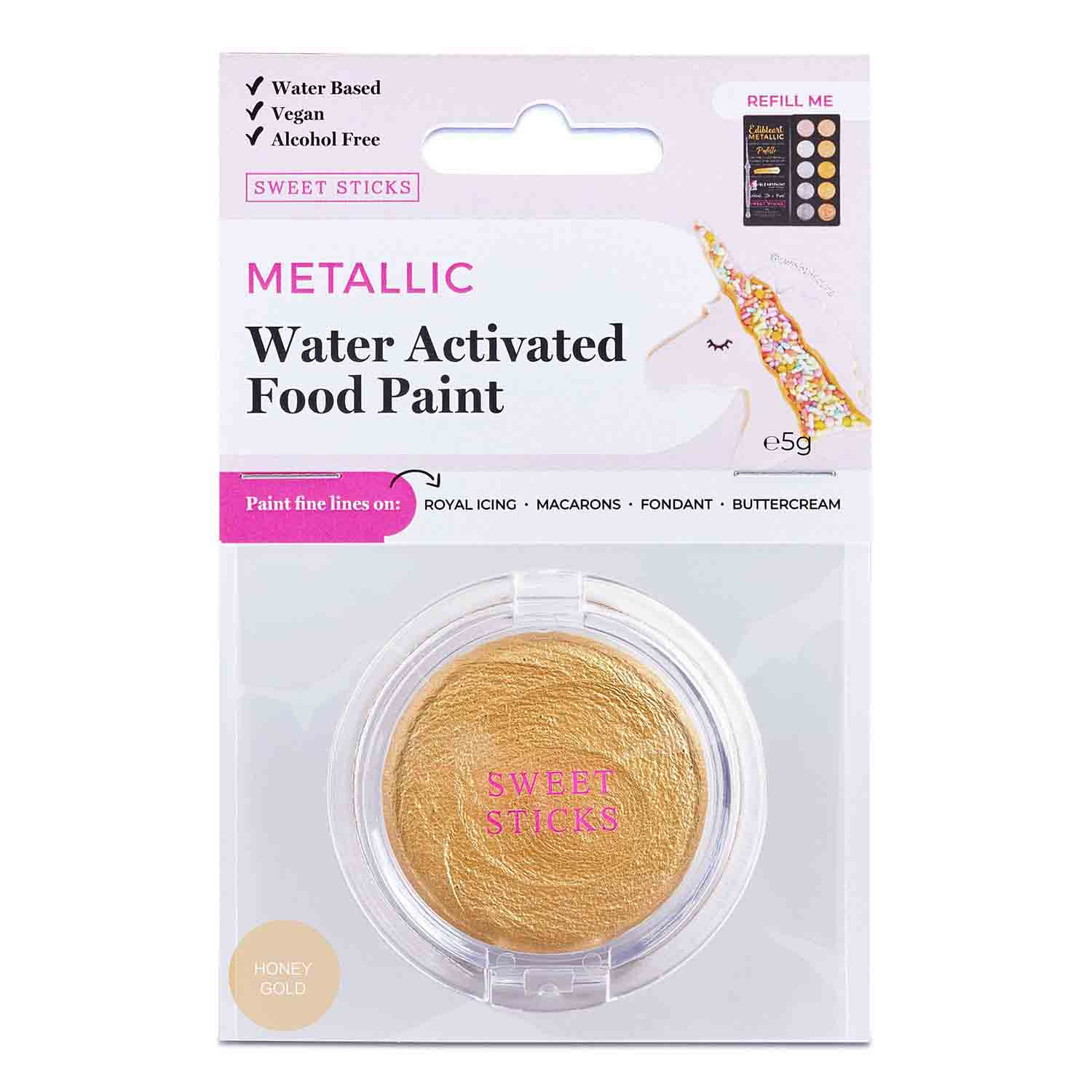 Honey Gold Water Activated Food Paint