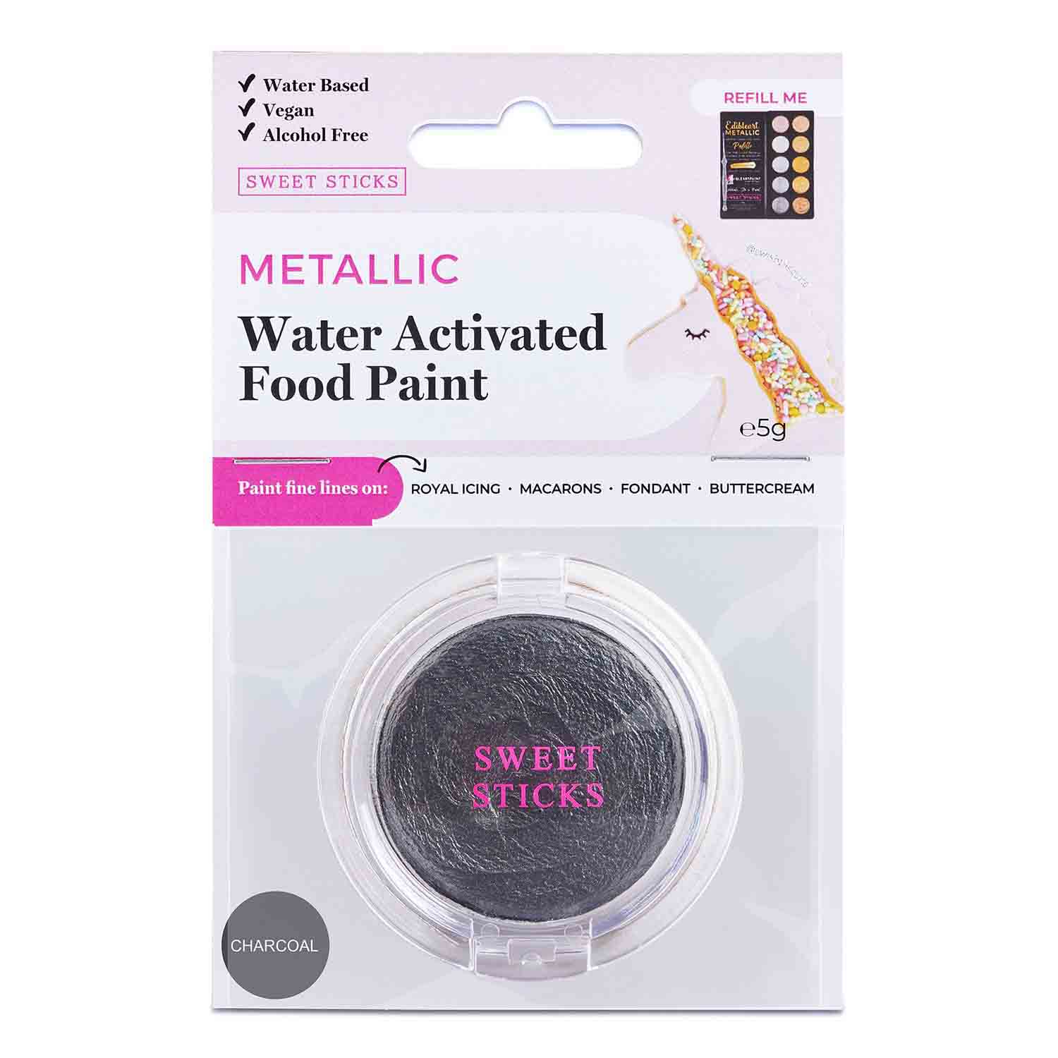 Charcoal Water Activated Food Paint