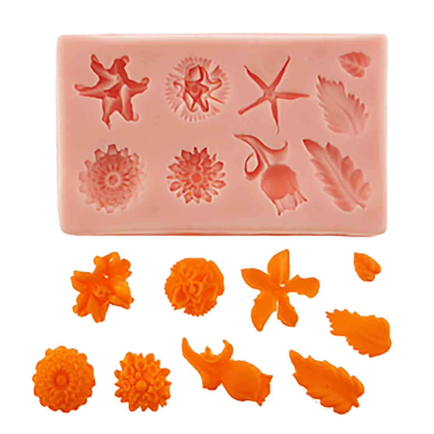 Flowers and Leaves Silicone Mold