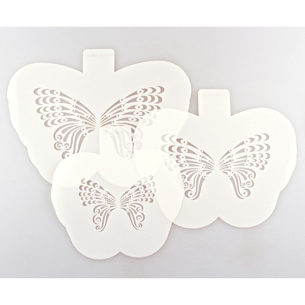 Fantasy Lace Butterfly Stencils