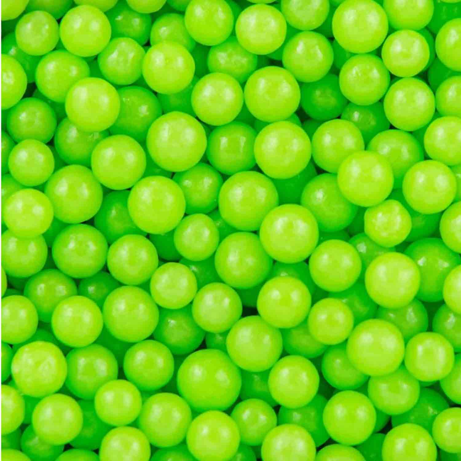 5mm Lime Green Midi Sugar Pearls