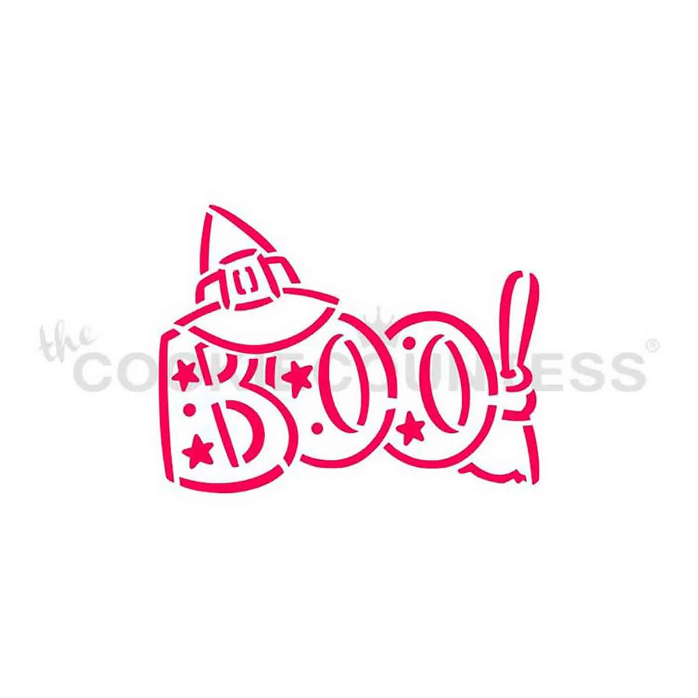 BOO Cookie Stencil
