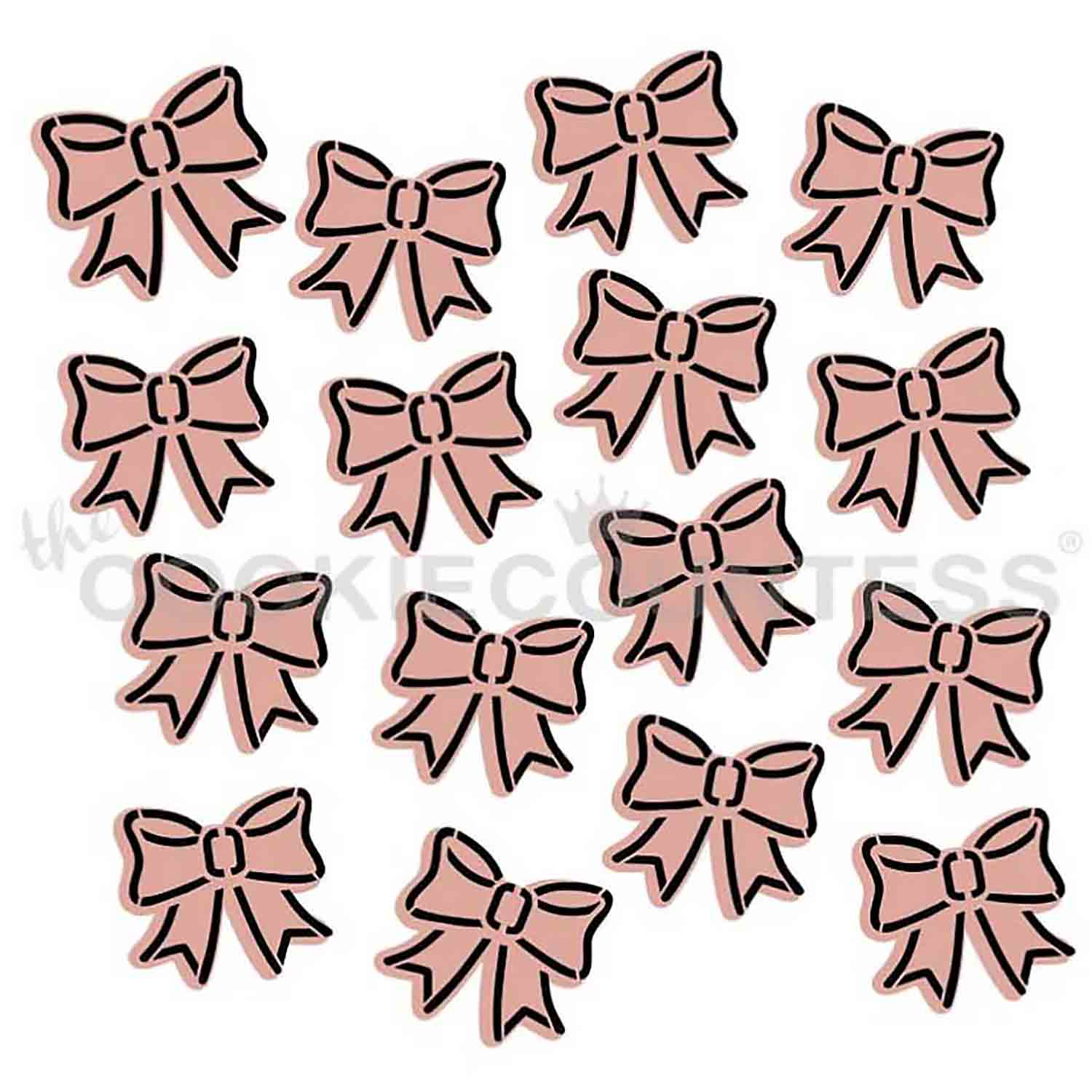 Cute Bows 2 Piece Stencil Set