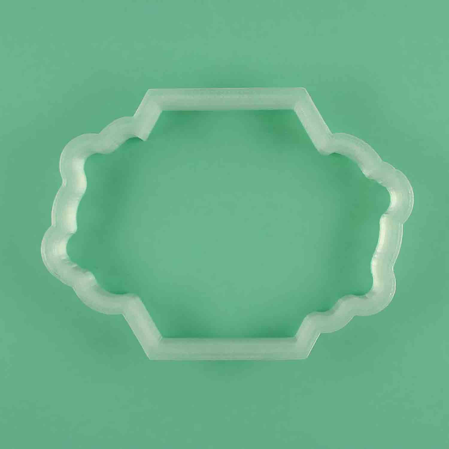 Jamestown Hexagon with Flowers Cookie Cutter