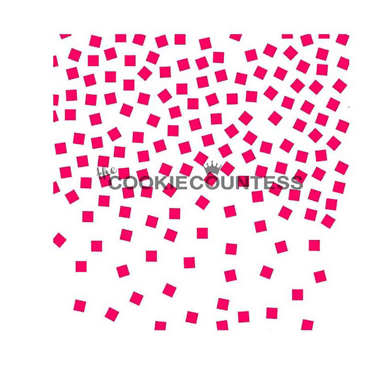 Confetti Cookie Stencil
