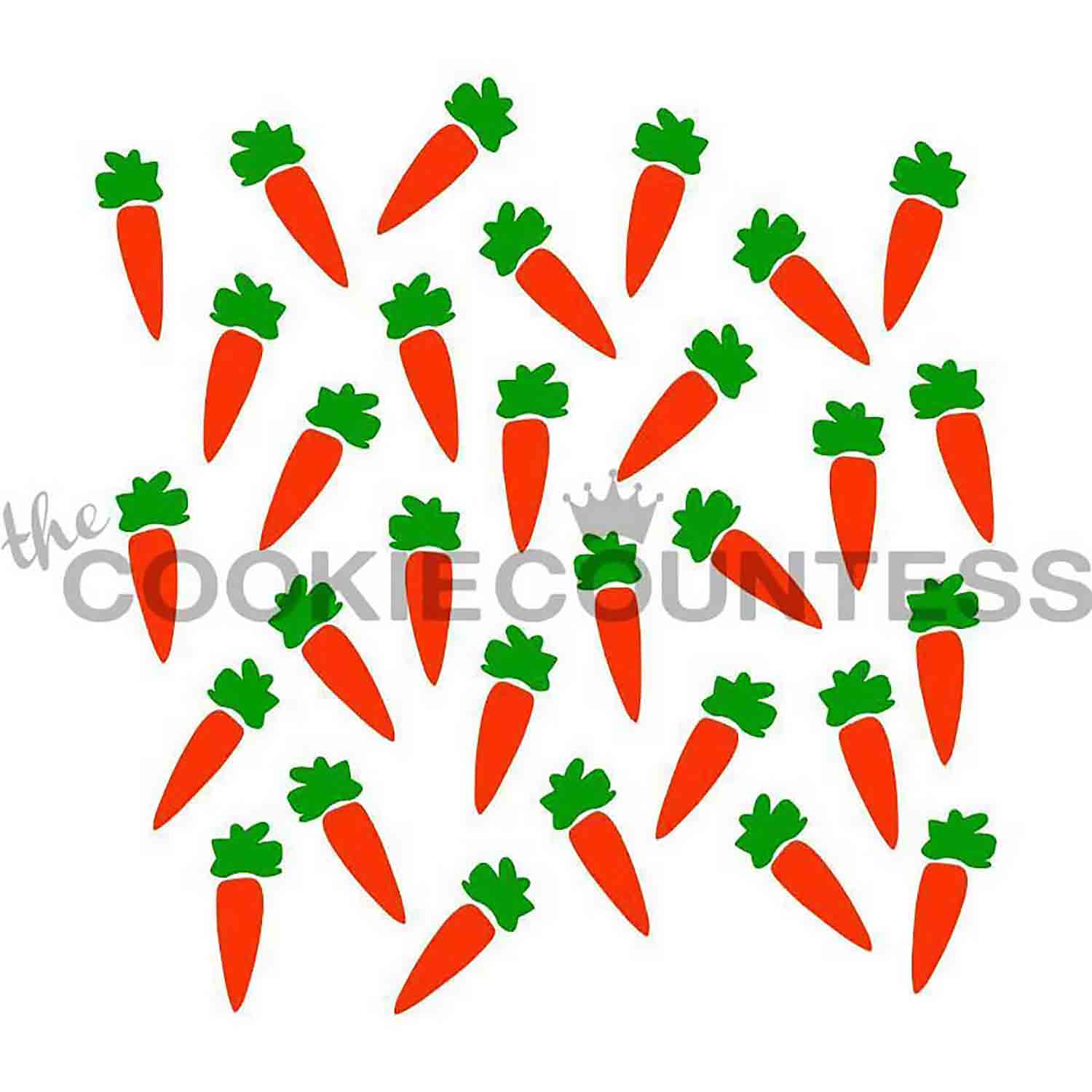 Carrot 2 Piece Stencil Set