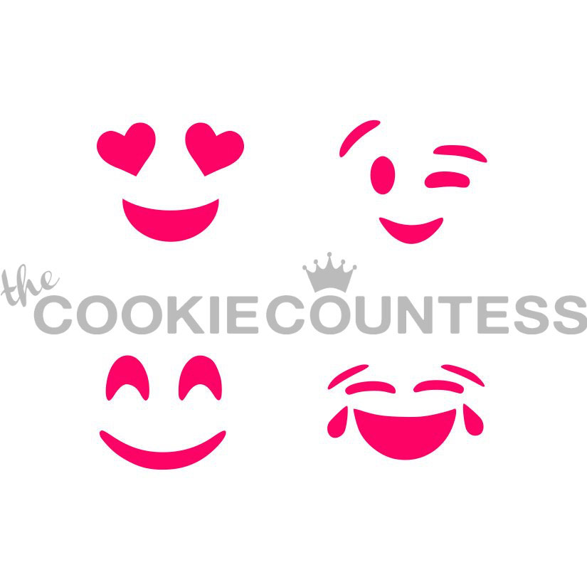 Mini Emoji Cookie Stencil