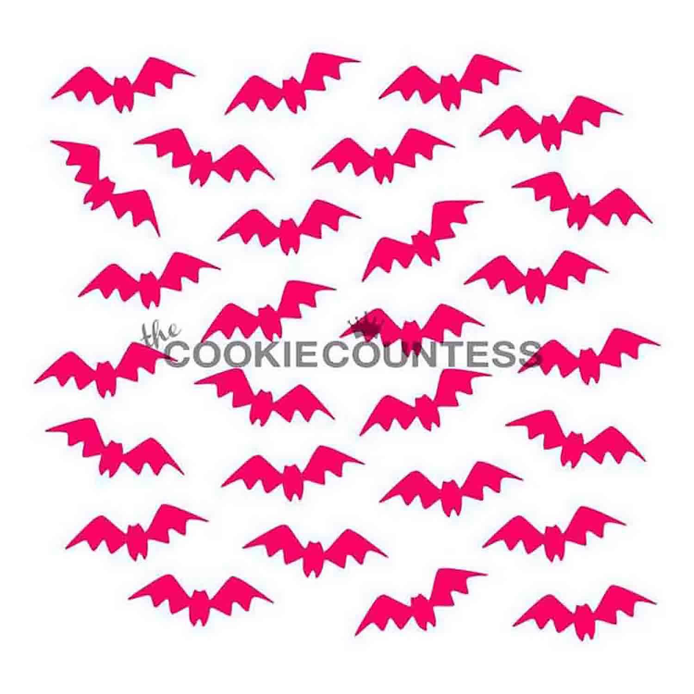 Fluttering Bats Cookie Stencil