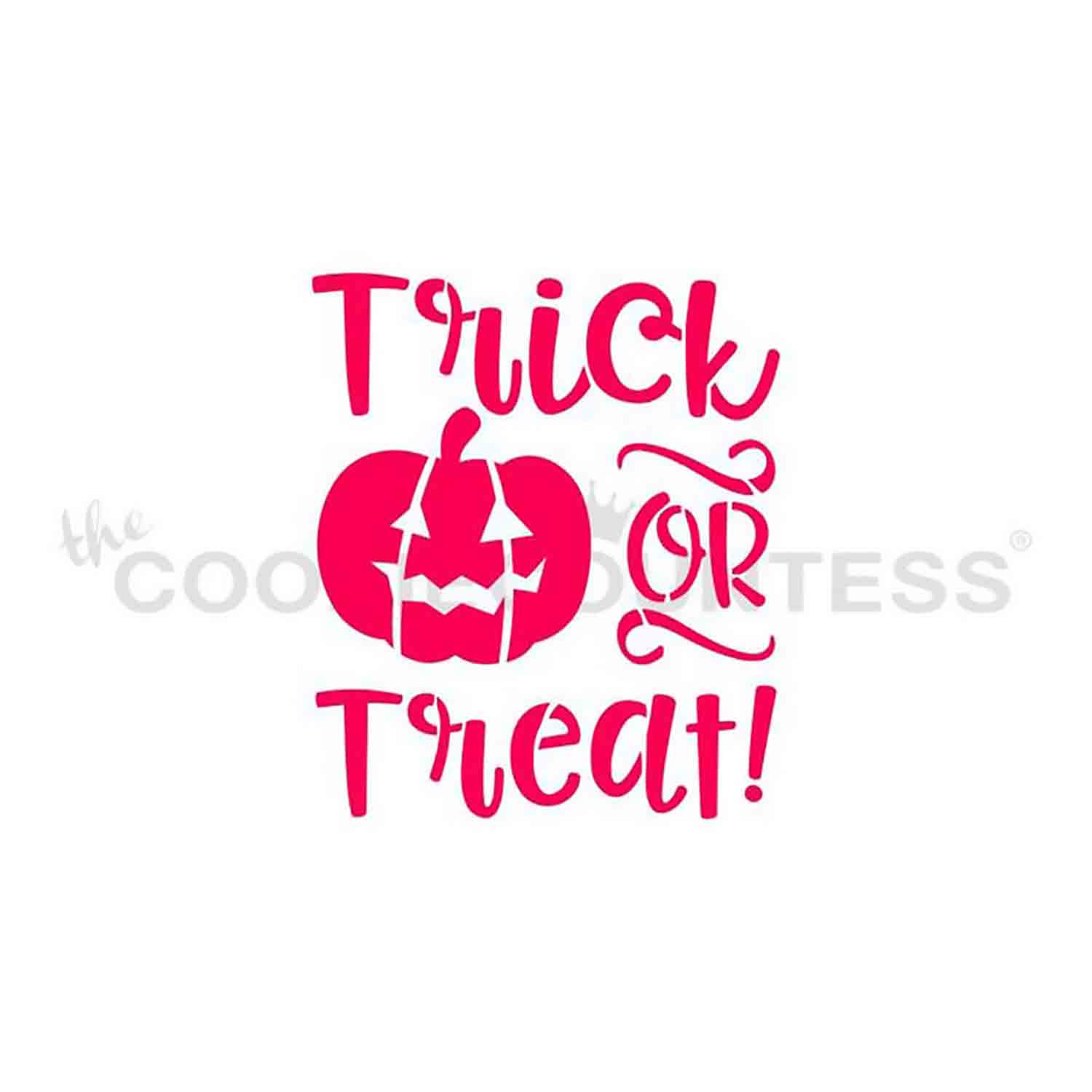 Fun Trick or Treat Cookie Stencil