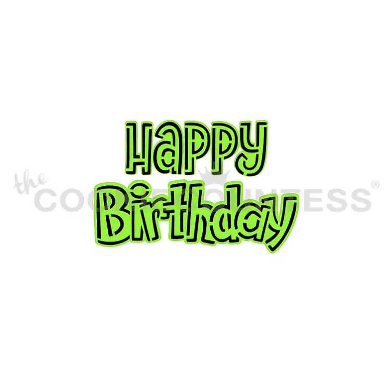Happy Birthday 2 Piece Stencil Set