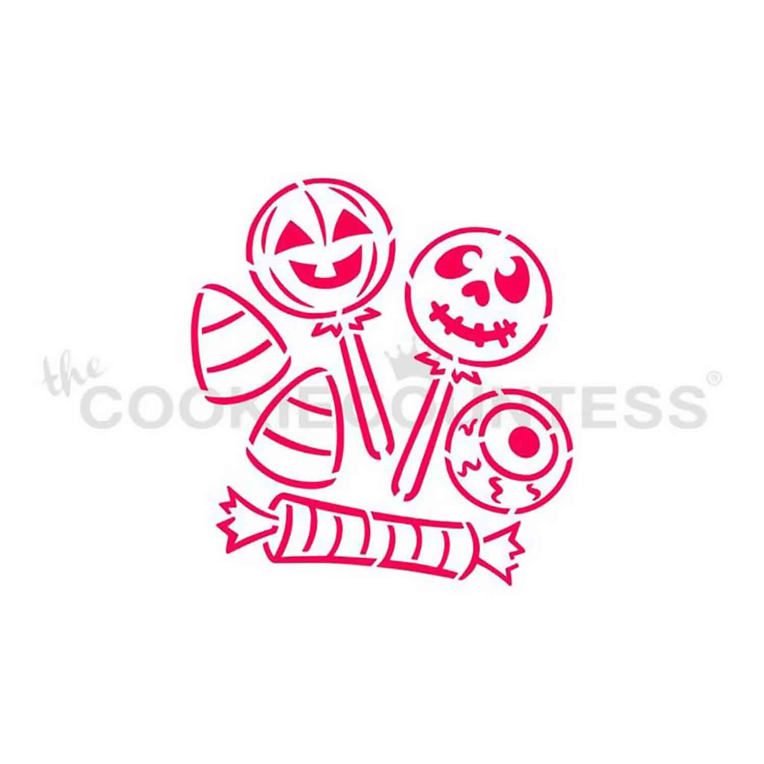 Halloween Candy Cookie Stencil