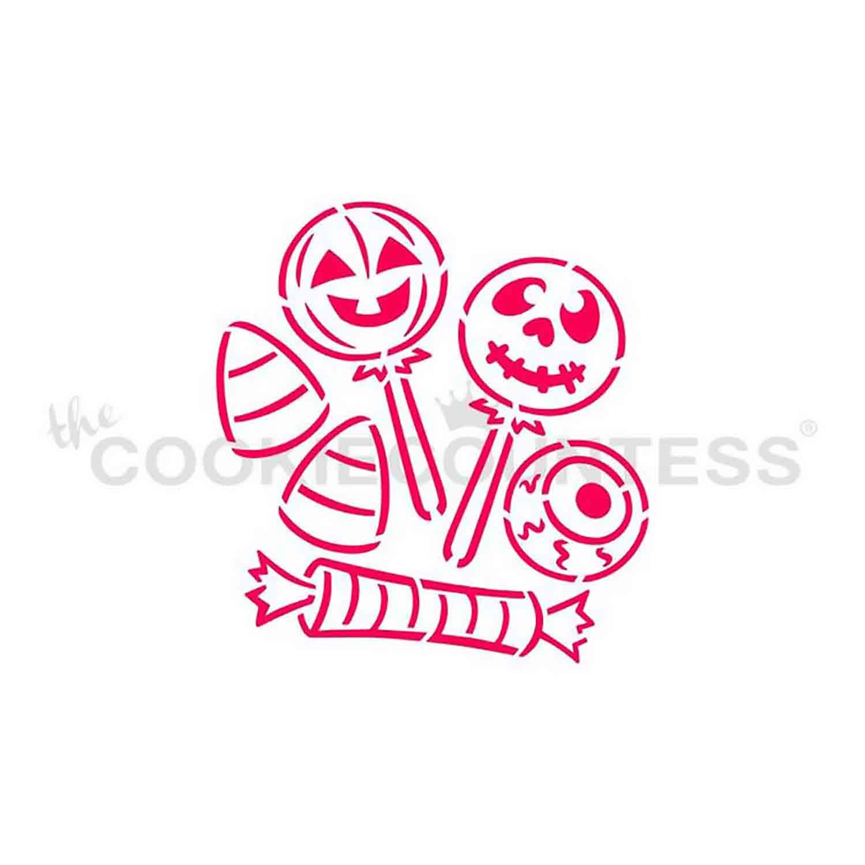 Halloween Candy Cookie Stencil