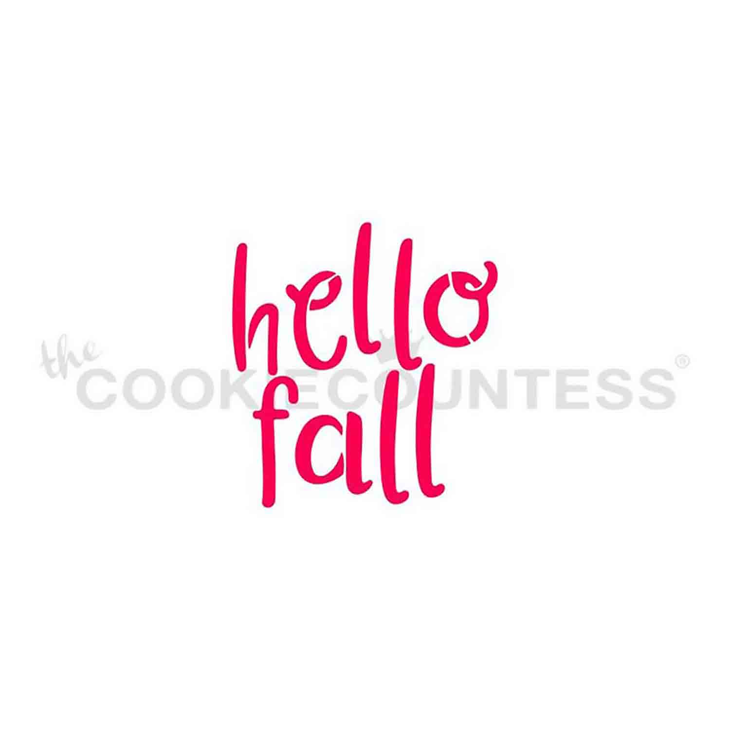 Hello Fall Cookie Stencil