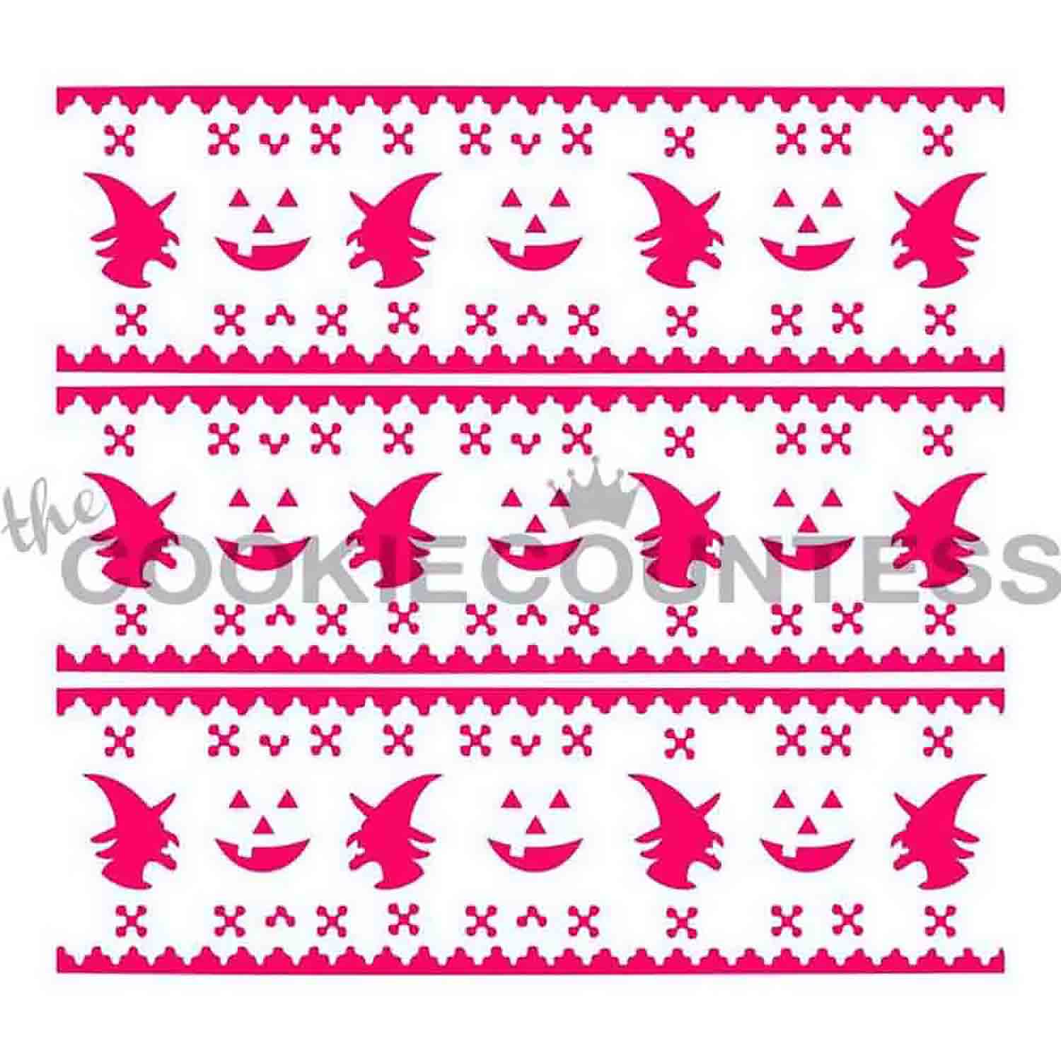 Halloween Fair Isle Sweater Cookie Stencil