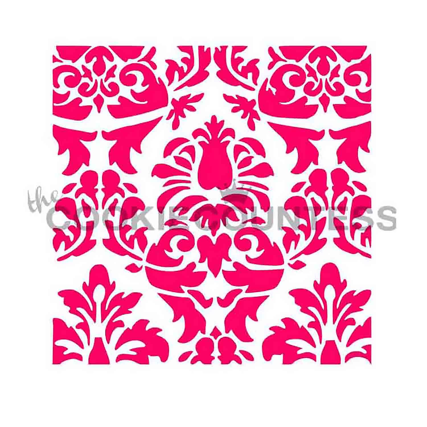 Lovely Damask Cookie Stencil