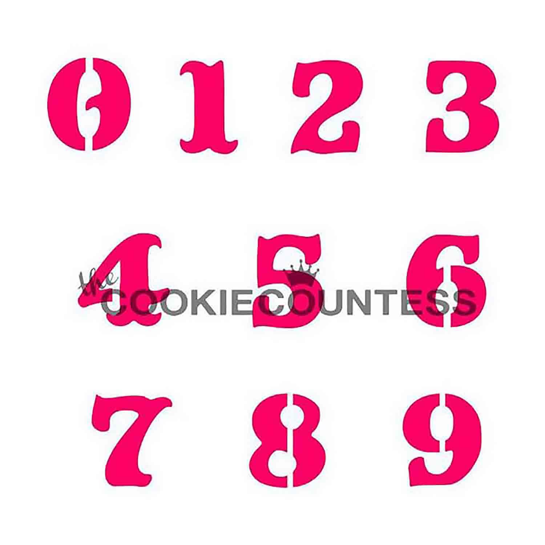 Numbers Cookie Stencil