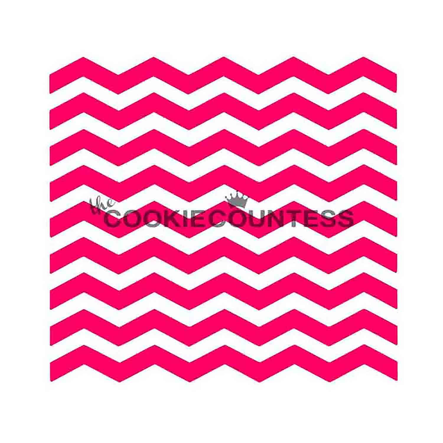 Narrow Chevron Cookie Stencil