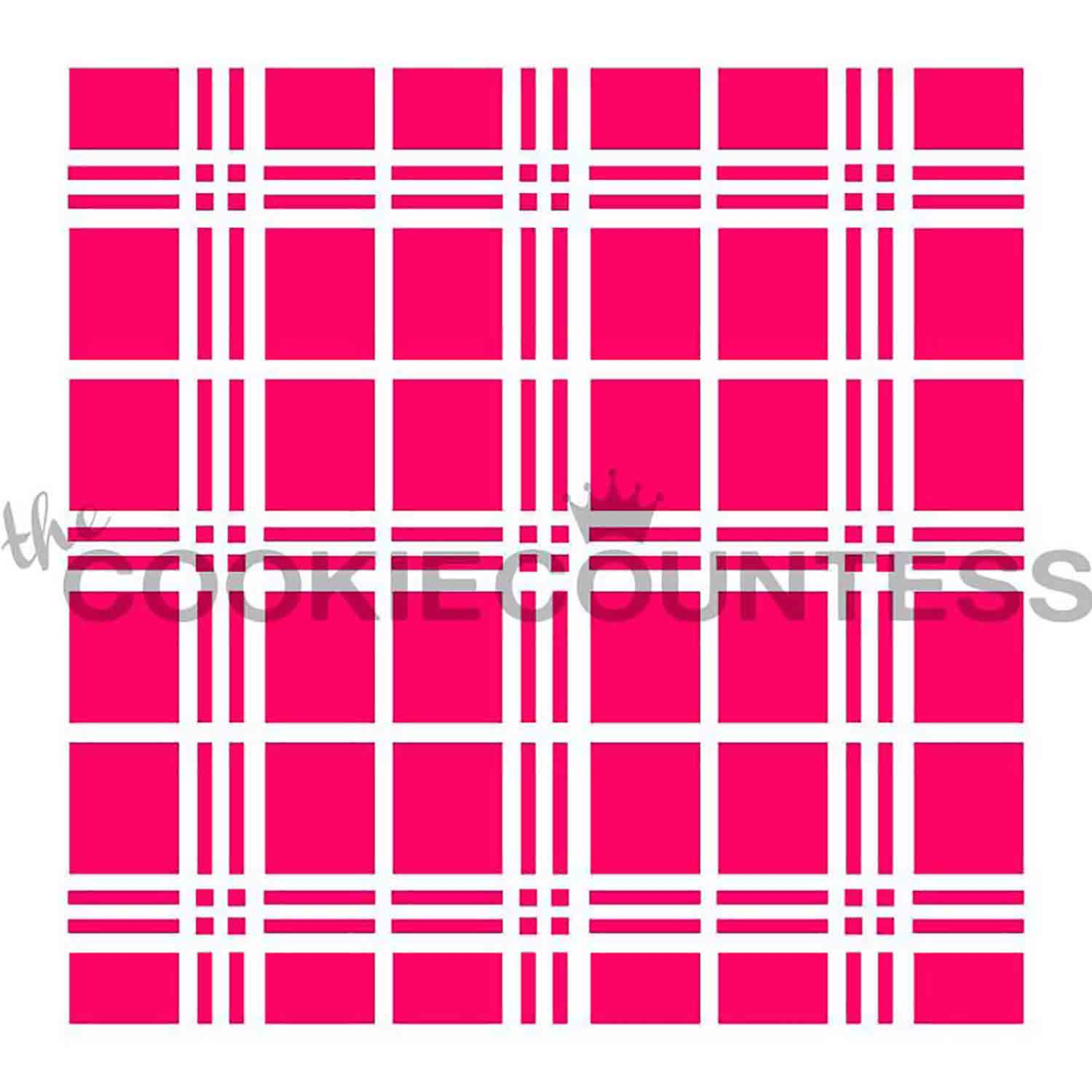 New Plaid Cookie Stencil