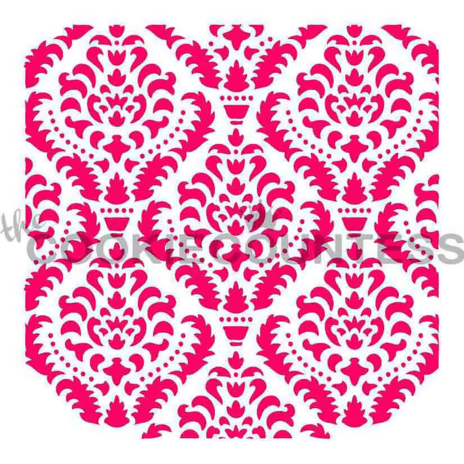 Ornate Damask Cookie Stencil