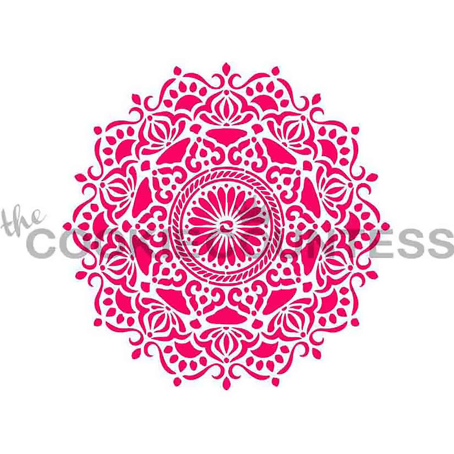 Ornate Medallion Cookie Stencil