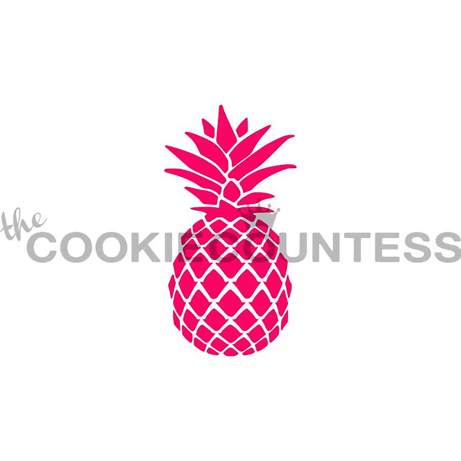 Pineapple Cookie Stencil